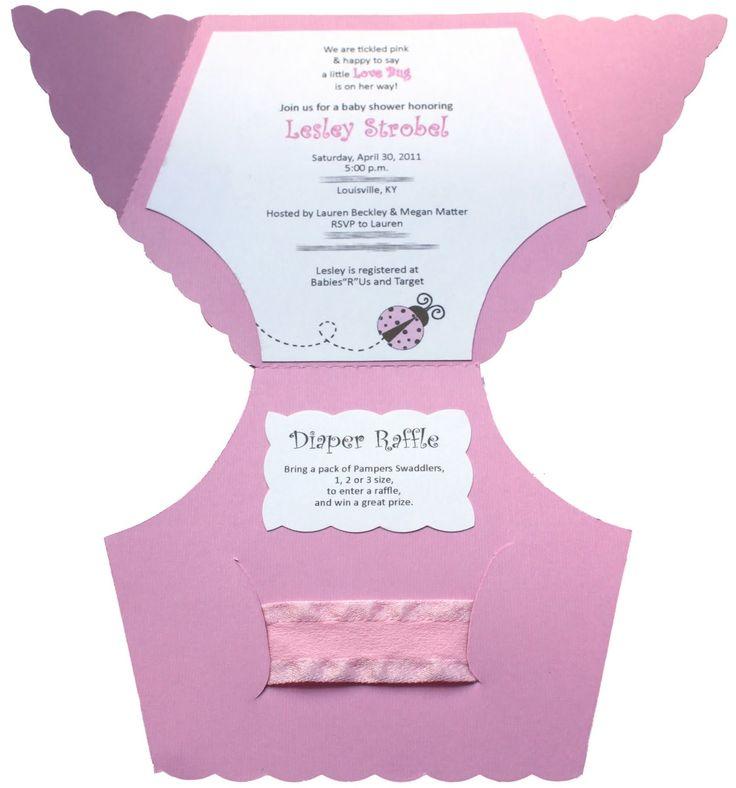 free baby diaper invitation template