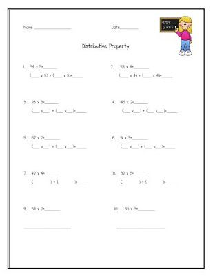 64 Best images about Math~distributive property on