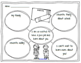 Pen pals, Pens and Writing graphic organizers on Pinterest