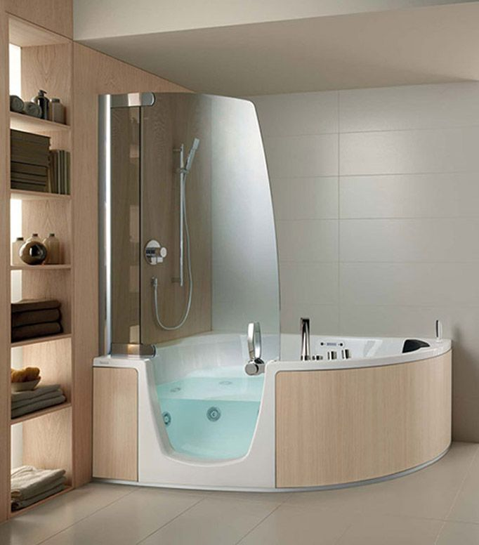 BATH AND SHOWER COMBOS Corner Whirlpool Shower
