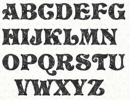 1000 ideas about Cool Fonts Alphabet on Pinterest Cool