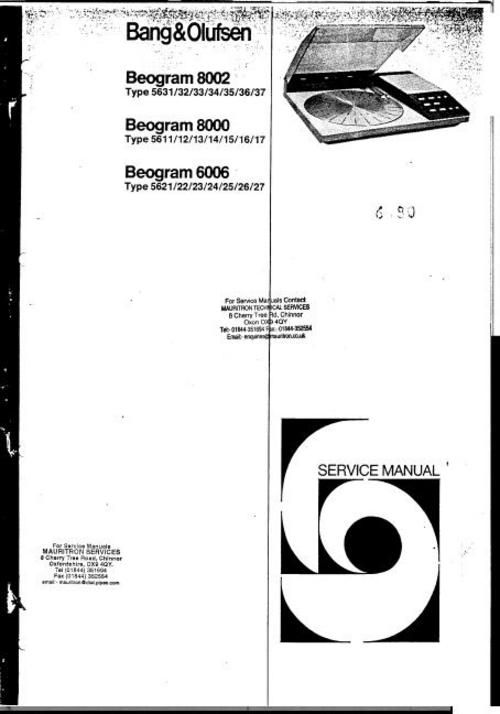 1000+ images about Bang & Olufsen Service Manuals on