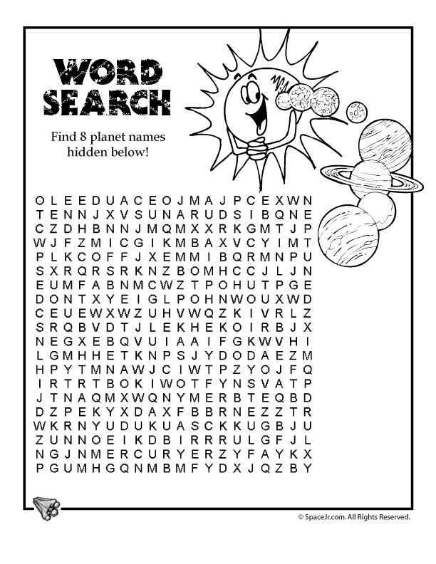Solar System for Kids solar-system-word-search
