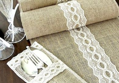 Ideas About Burlap Silverware Holder On Pinterest