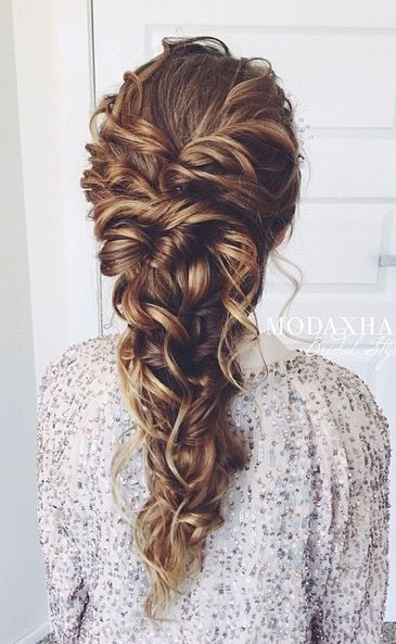 25+ Best Ideas about Curly Braided Hairstyles on Pinterest