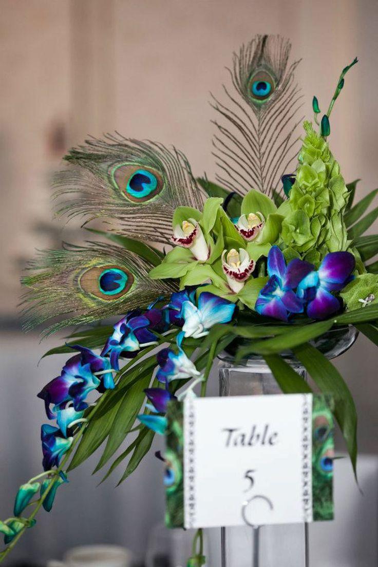 25 Best Ideas About Peacock Wedding Flowers On Pinterest