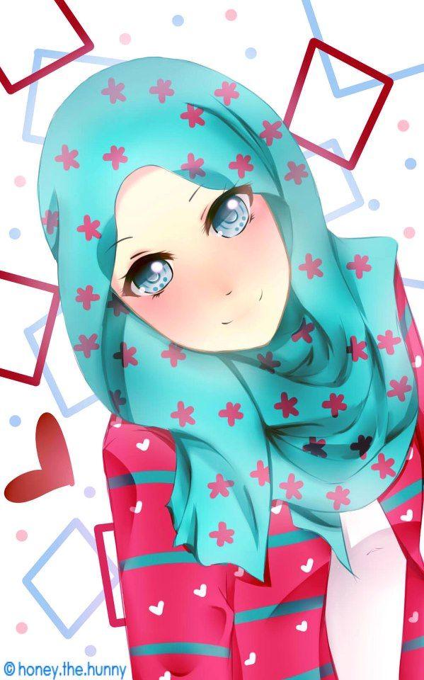 Kawaii Cute Anime Girl Hijab Novocom Top