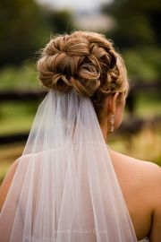 bridal hair updo with veil - google