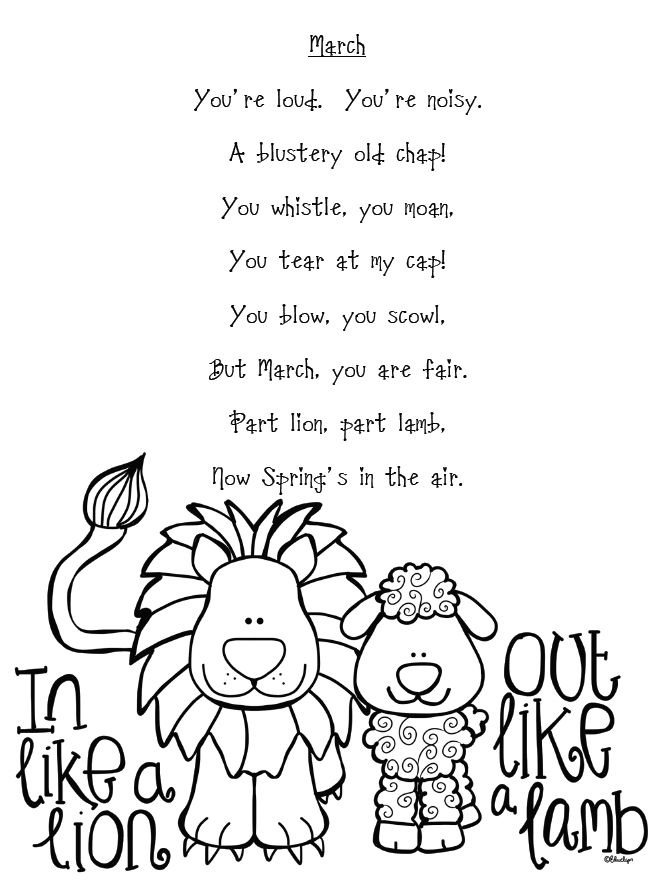 78 Best images about poems for kindergarteners on