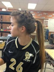 high styling hair with braid