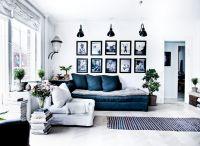 living+room+white+blue+navy+gray+black+sconces+light+wall ...
