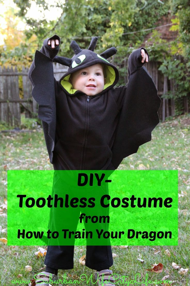 DIY Toothless Costume  Train your dragon For kids and Dragon costume