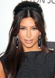 kim kardashian retro teased -updo