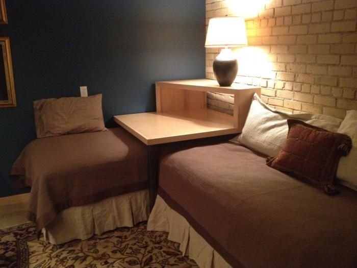 small table that slides under sofa white slipcovers for and loveseat 22 best images about corner twin beds on pinterest | ana ...