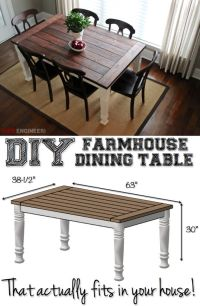1000+ ideas about Farmhouse Dining Tables on Pinterest
