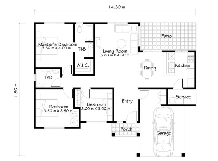 One Story House Plans like Small House Designs Series: SHD
