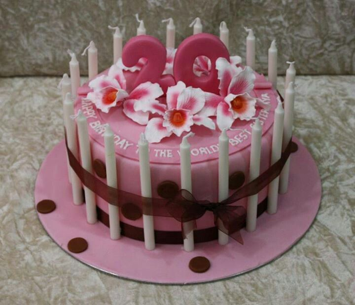 20th Birthday Cake Sweets Pinterest Birthday Cakes