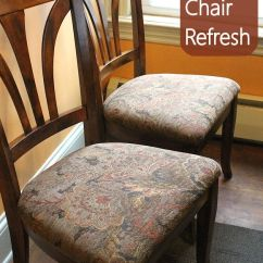 Reupholster Dining Room Chair Seat Couch Armchair Covers Chairs: Easy Diy Project | Happenings, Hunt's And Thrift Store Finds