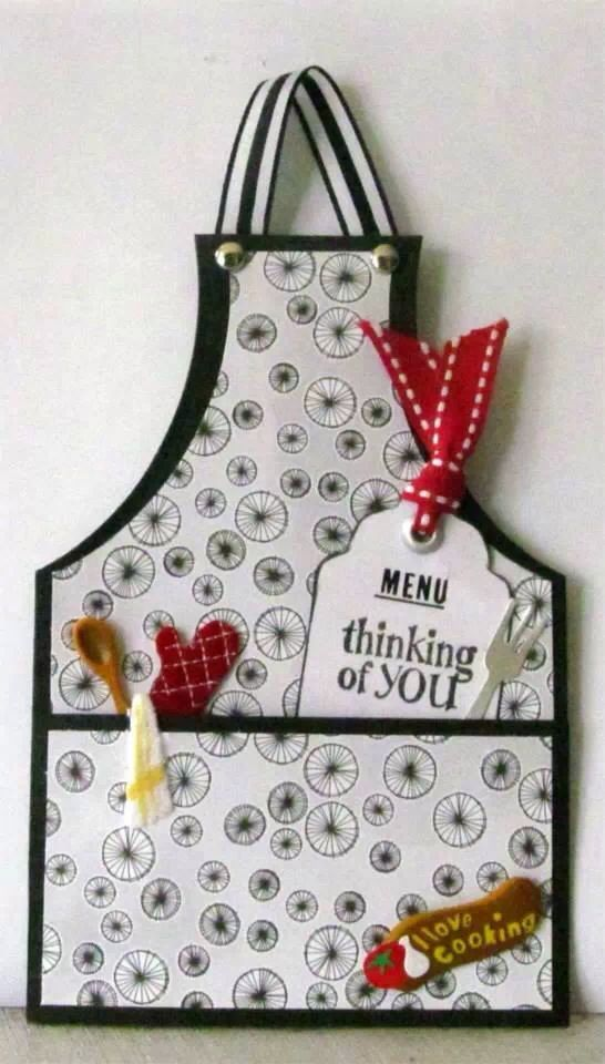 Chef Apron Handmade Card By Angelica Rosa Cards Pinterest Apron