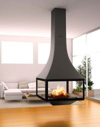 Suspended fireplace as a center of attraction | Fireplaces ...
