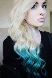dyed tips hair & make