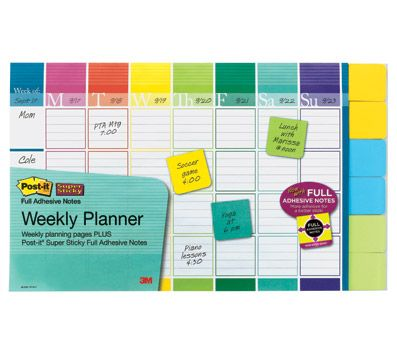 PostitR Notes Weekly Planner 18 x 12 52 Weeks with