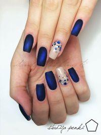 25+ best ideas about Navy blue nails on Pinterest   Navy ...