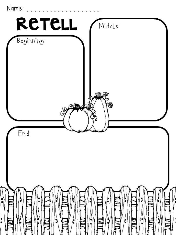 Spookley the Square Pumpkin Graphic Organizer freebie