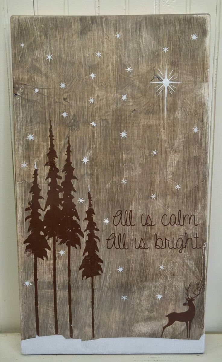 Rustic Holiday Sign  Christmas Sign  Rustic Christmas  Woodland Decor  Rustic Signs  Rustic