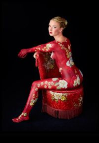 Body Art and oriental asian chair
