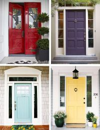 Paint colors clockwise: Benjamin Moore Heritage Red ...