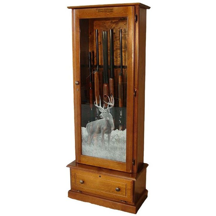 Solid Wood Gun Cabinet Plans  WoodWorking Projects  Plans