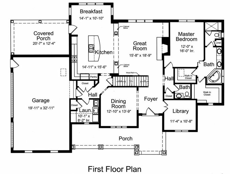 Traditional 4 Beds 2.5 Baths 2776 Sq/Ft Plan #46-522 Main