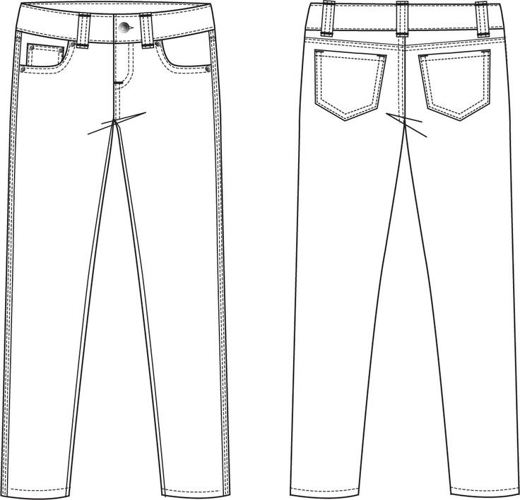 28 cool Women Pants Sketch