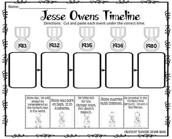 Jesse Owens Timeline Cut and Paste FREEBIE!I am pleased to