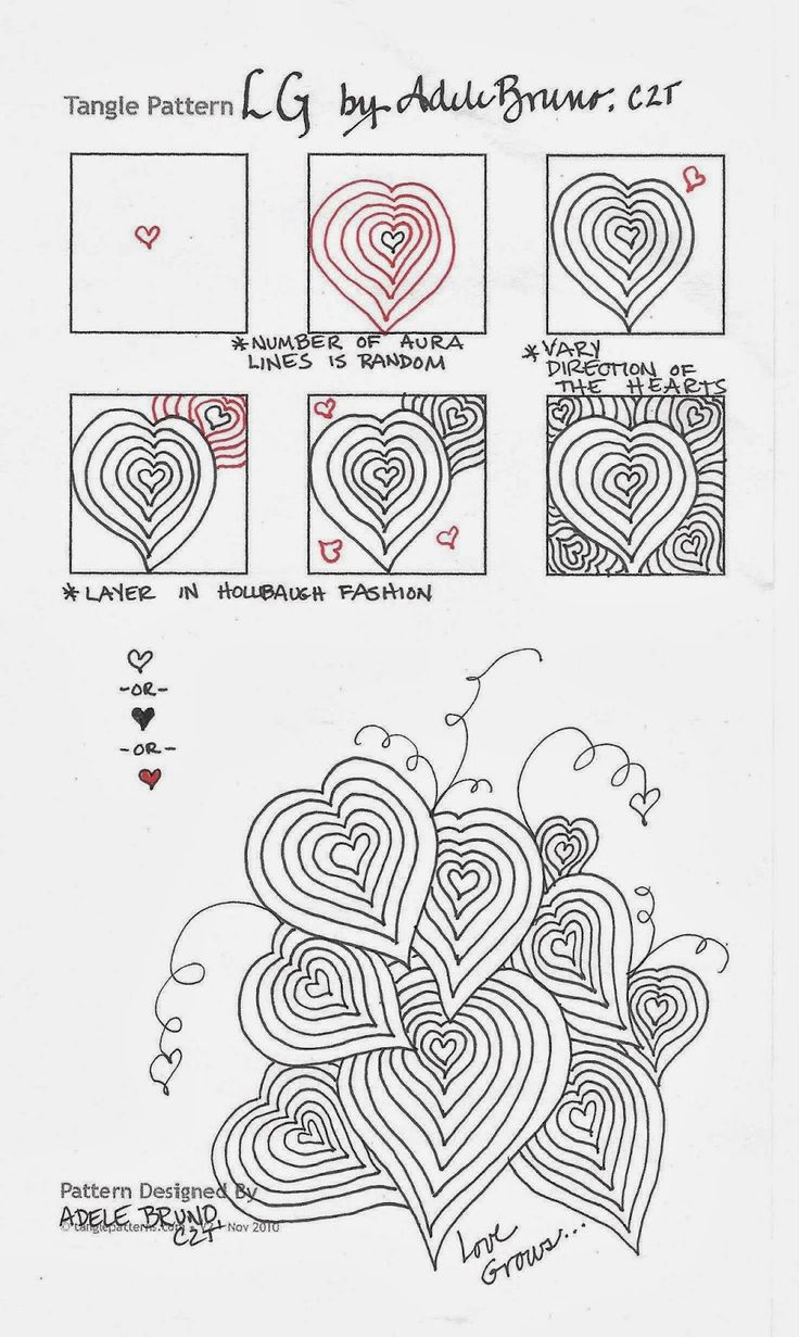 459 best images about Zentangle Patterns on Pinterest