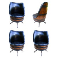 """Man Cave"" whiskey barrel chairs 