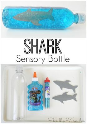 Watching this Shark Sensory Bottle creates a wonderful imagery for calming upset children!