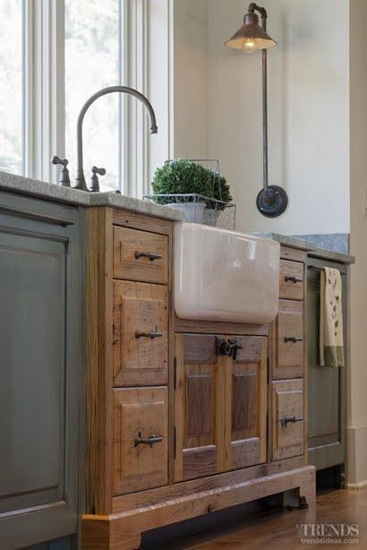 pretty, furniture-style sink base;