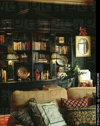 Dark green living room | Anything Green w/a hint of ...
