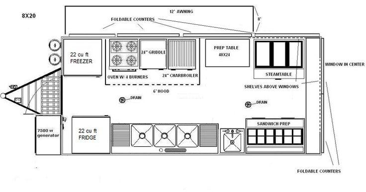 Pictures Of Food Truck Floor Plan Popular On Food Truck