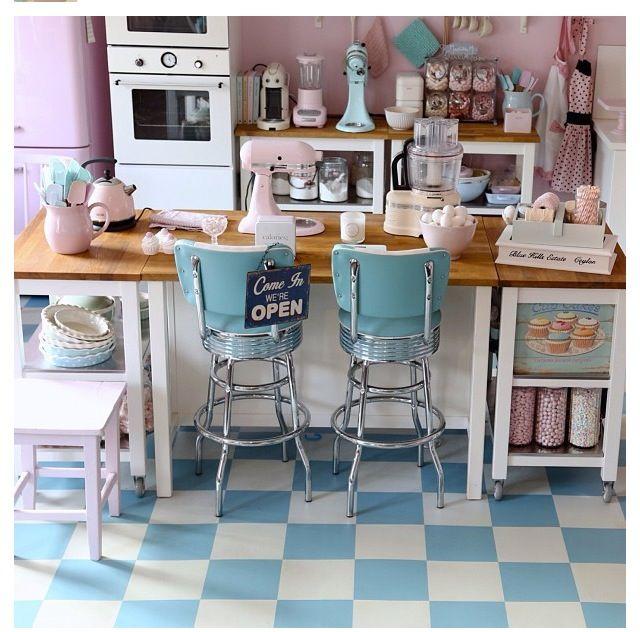 50s style kitchen  Decoration  Pinterest  Kitchen