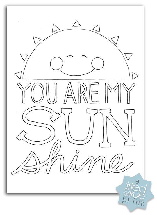 25+ best ideas about Sunshine printable on Pinterest