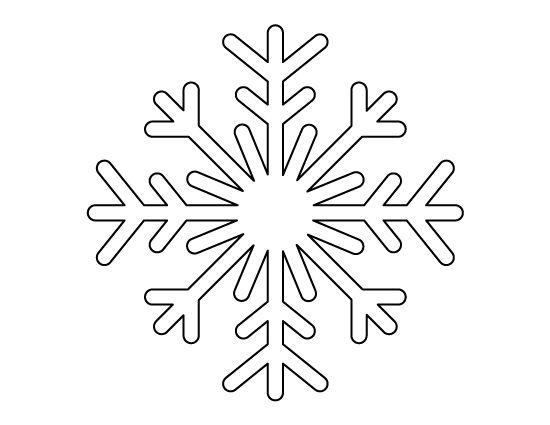 Printable full page snowflake pattern. Use the pattern for