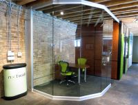 Angled / Curved Glass Wall Office at NxtWall's Chicago ...