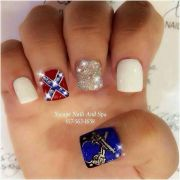 rebel flag nails ideas