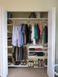 Small Master Bedroom Closet makeover using IKEA Algot ...