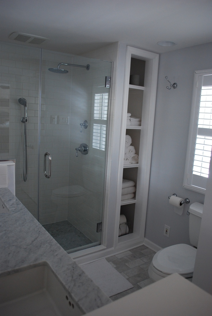 Bathroom Remodel White Subway Carrara Marble Floors And