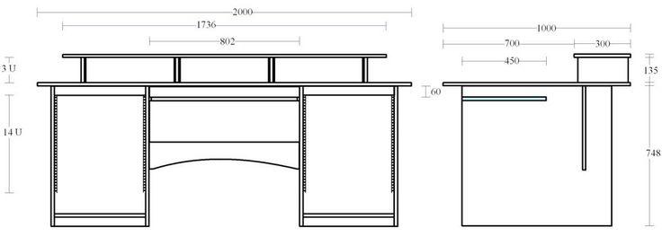 Studio Desk Table Furniture Producer workstation Rack