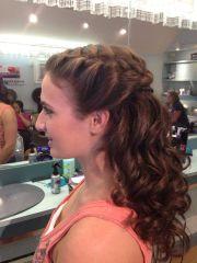 braid long semi-formal hair prom